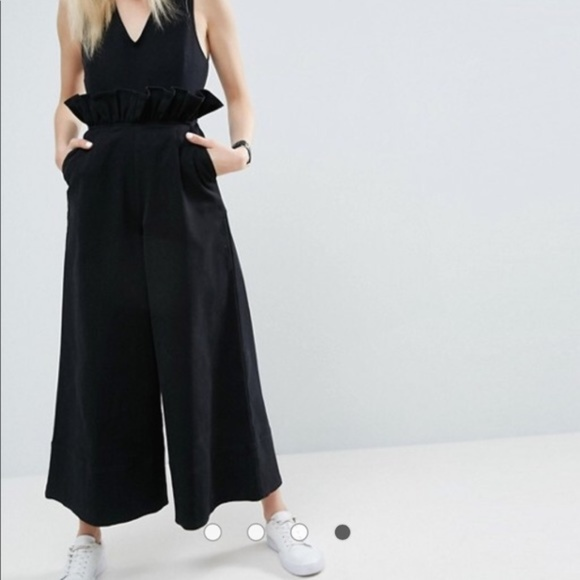 0046fd27b96 ASOS Pants - NEW Black ASOS Twill Jumpsuit with Ruffle Waist
